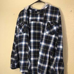 Empyre Womens Hooded Flannel L